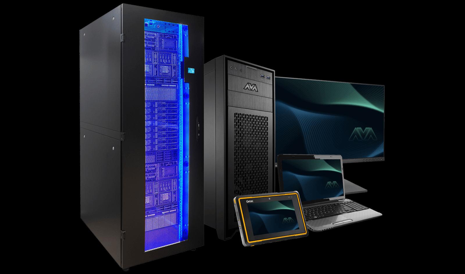 AVA computer tower