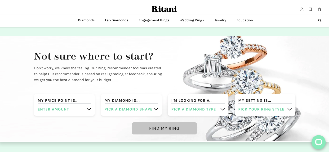 Ritani product categories